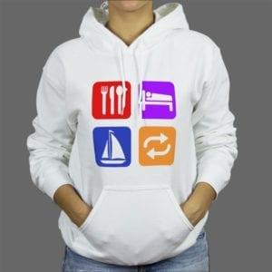 Majica ili Hoodie Eat sleep sail 1