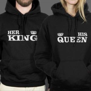 Majice ili Hoodie Her king His queen 1