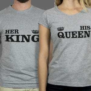 Majice ili Hoodie Her king His queen 1