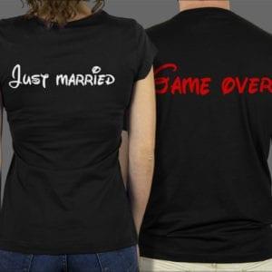 Majice ili Hoodie Just married Game over 1