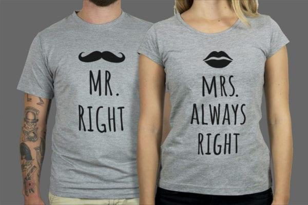 Majice ili dukse Mr Mrs Right 1