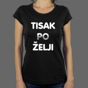 Tisak na žensku majicu
