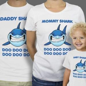 Majice ili Hoodie Family Shark 1