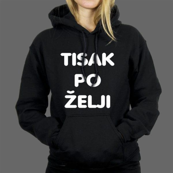 Tisak na žensku hoodie