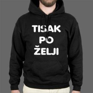 Tisak na mušku hoodie