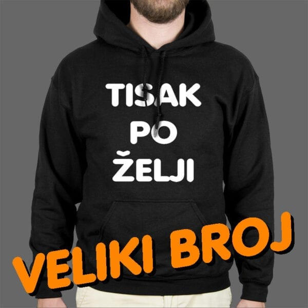 Tisak na mušku hoodie oversize