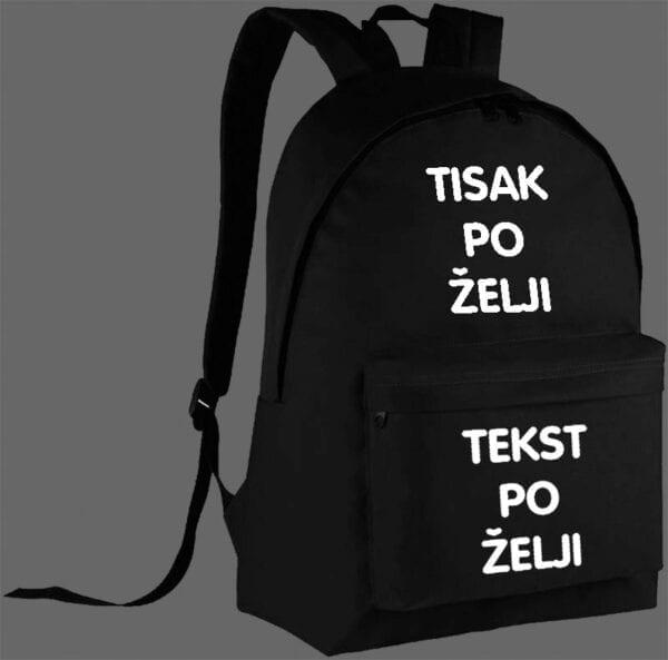 Tisak na ruksak (slika i tekst)